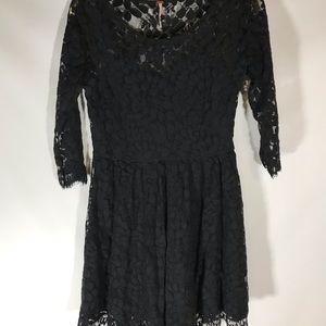Free People Dresses - Free people black lace dress